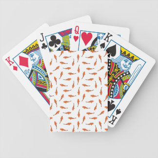 Koi Fishes Motif Pattern Bicycle Playing Cards