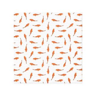 Koi Fishes Motif Pattern Canvas Print