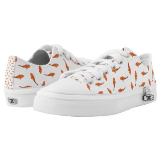 Koi Fishes Motif Pattern Low-Top Sneakers