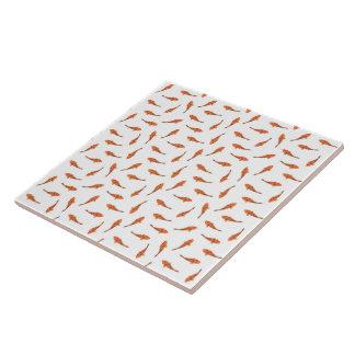 Koi Fishes Motif Pattern Tile