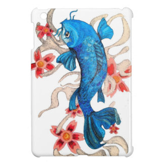 Koi Floral Art Mini Ipad Case