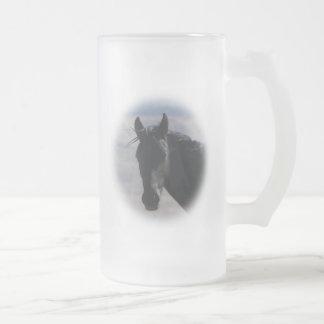 Koi Frosted Glass Beer Mug