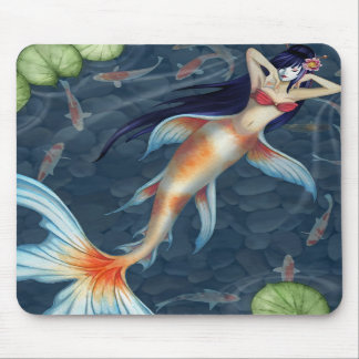 Koi Geisha Mermaid Mousepad