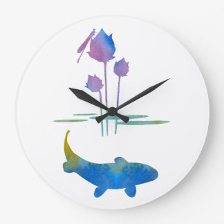 Koi Large Clock