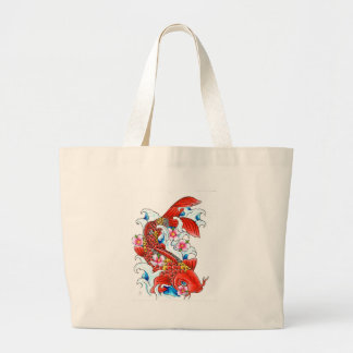 koi large tote bag