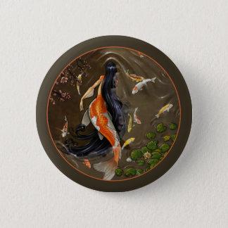Koi Mermaid Button