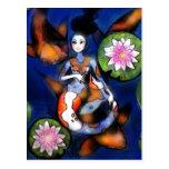 Koi Mermaid Postcard Print