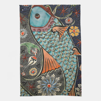 Koi Mosaic Kitchen Towel