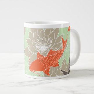 Koi Pattern Giant Coffee Mug
