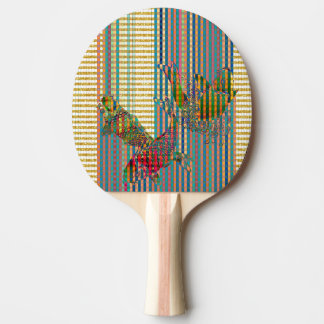 Koi Ping Pong Paddle, Red Rubber Back Ping Pong Paddle