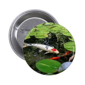 Koi Pond 2 Inch Round Button