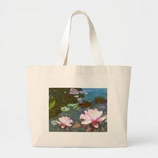 Koi Pond 4-20 Large Tote Bag