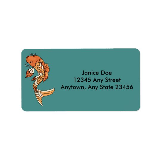 Koi Pond Address Label