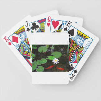 Koi Pond Bicycle Playing Cards