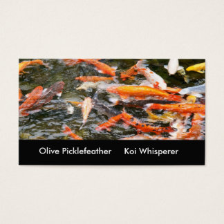 Koi pond business card