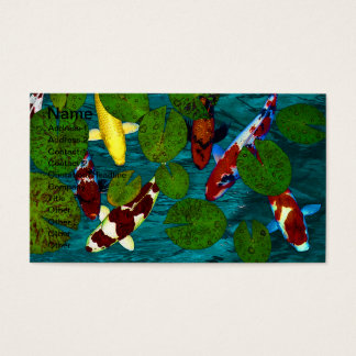 KOI POND Business Cards