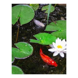 Koi Pond Customized Letterhead