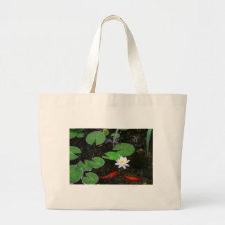 Koi Pond Large Tote Bag