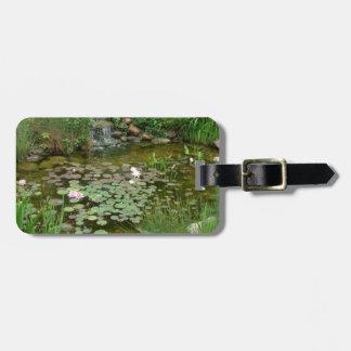 Koi Pond Luggage Tag