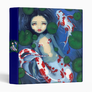 Koi Pond Mermaid Binder