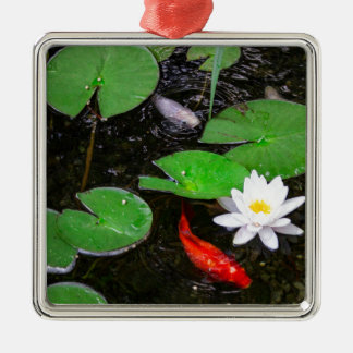 Koi Pond Metal Ornament