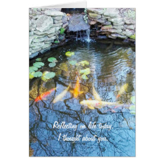 Koi Pond Miss You Greeting Card