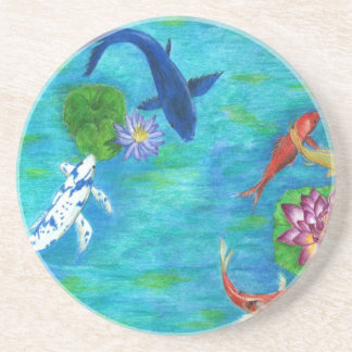 Koi pond original coaster