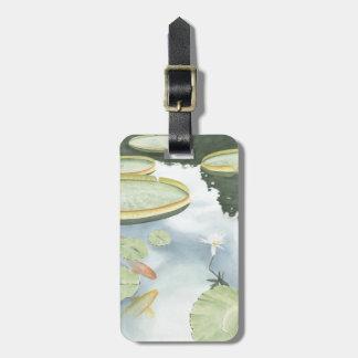 Koi Pond Reflection with Fish and Lilies Bag Tag