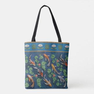 Koi Pond Tote Bag