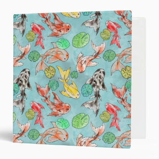 Koi pond watercolors 3 ring binders