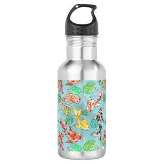 Koi pond watercolors 532 ml water bottle