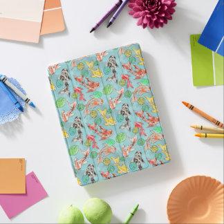 Koi pond watercolors iPad cover