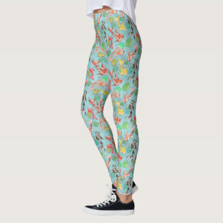 Koi pond watercolors leggings