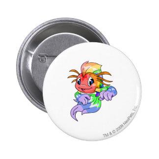 Koi Rainbow 2 Inch Round Button