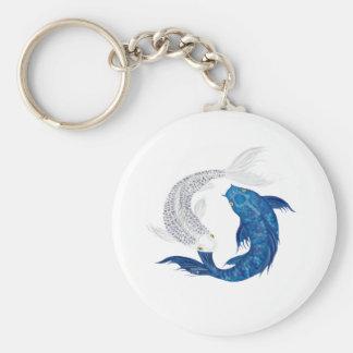 Koi Regal Blue Ghost silver Keychains
