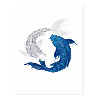 Koi Regal Blue Ghost silver Postcard