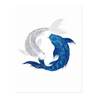 Koi Regal Blue Ghost silver Postcard