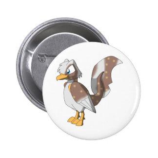 Koi Reptilian Bird - Rocky Road 2 Inch Round Button