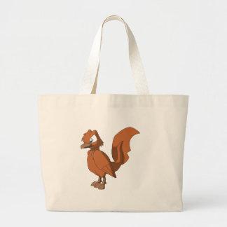 Koi Reptilian Bird - Spice Orange Large Tote Bag