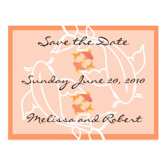 Koi Save the Date Postcard