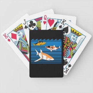Koi Sharks Bicycle Playing Cards