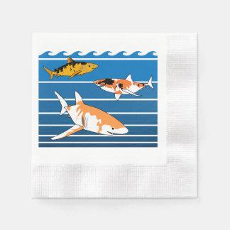 Koi Sharks Paper Napkins