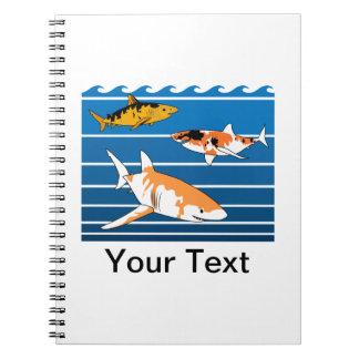 Koi Sharks Spiral Notebook