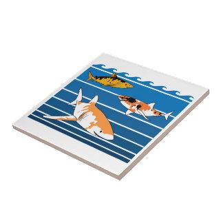 Koi Sharks Tile