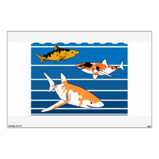 Koi Sharks Wall Decal