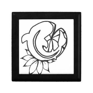Koi with Lilly Pad Ink Drawing Gift Box