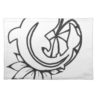 Koi with Lilly Pad Ink Drawing Placemat