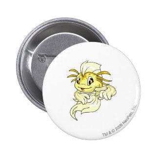 Koi Yellow 2 Inch Round Button