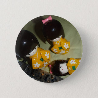 Kokeshi 2 Inch Round Button