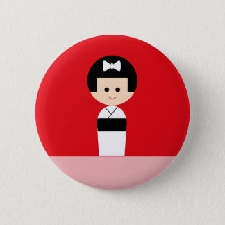 Kokeshi 5 2 inch round button